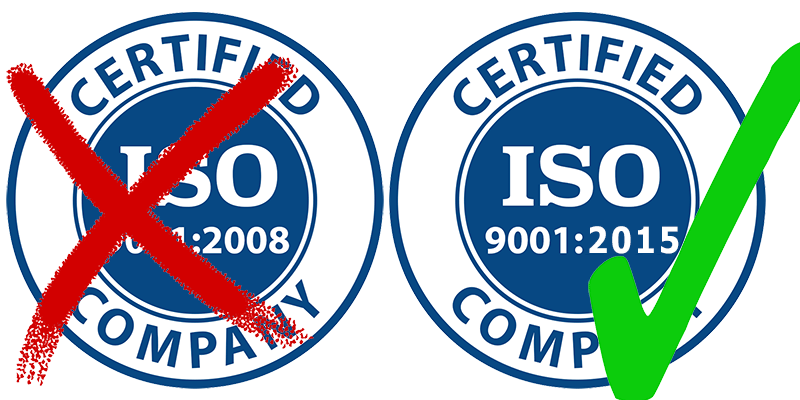 ISO 9001:2008 becomes obsolete on 15th September 2018